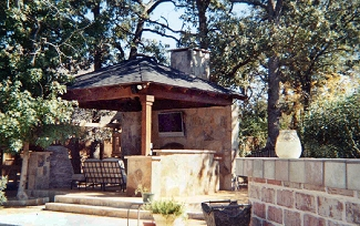 Pavillion w/Built in BBQ and Fireplace